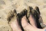 Sandy Woman Man Beach Sand Feet Love Barefoot
